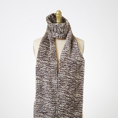 Cobblestone Luxury Faux Fur Scarf