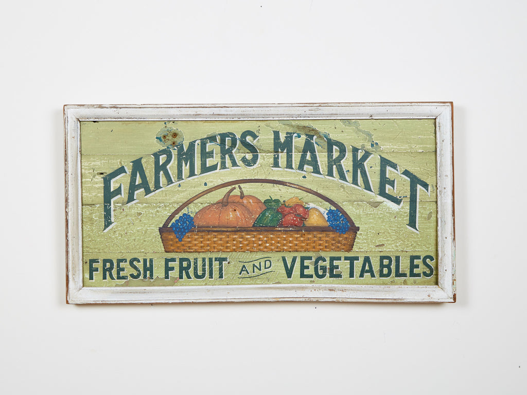 Farmers Market, Fresh Fruit and Vegetables Americana Art