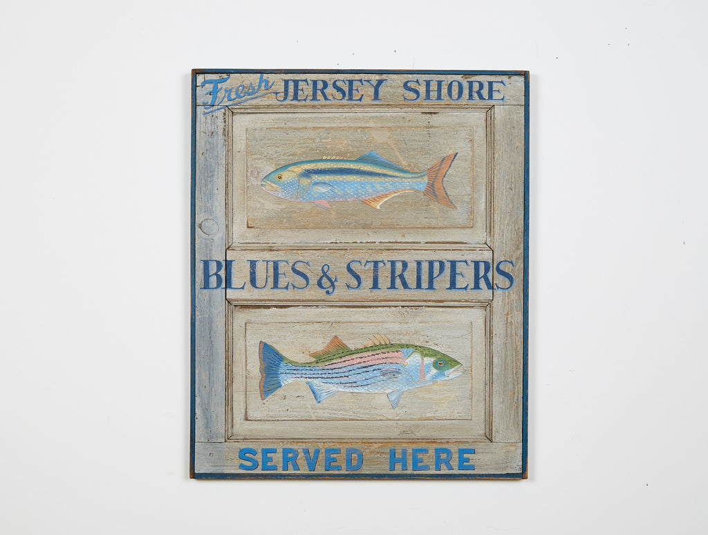 Fresh Jersey Shore Blues & Stripers Americana Art