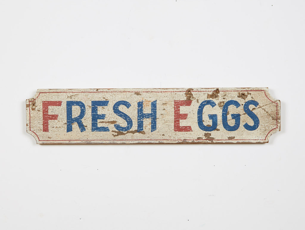 Fresh Eggs Sign, Horizontal Americana Art