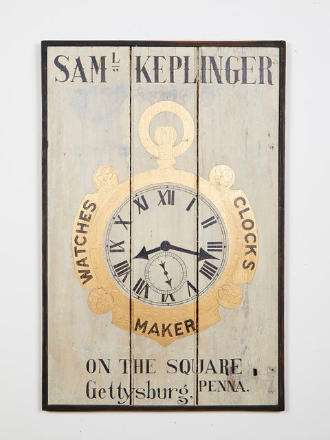Samuel Keplinger, Watch and Clock Maker Americana Art