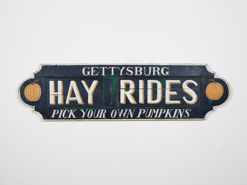 Gettysburg Hay Rides on Antique Shutter Americana Art