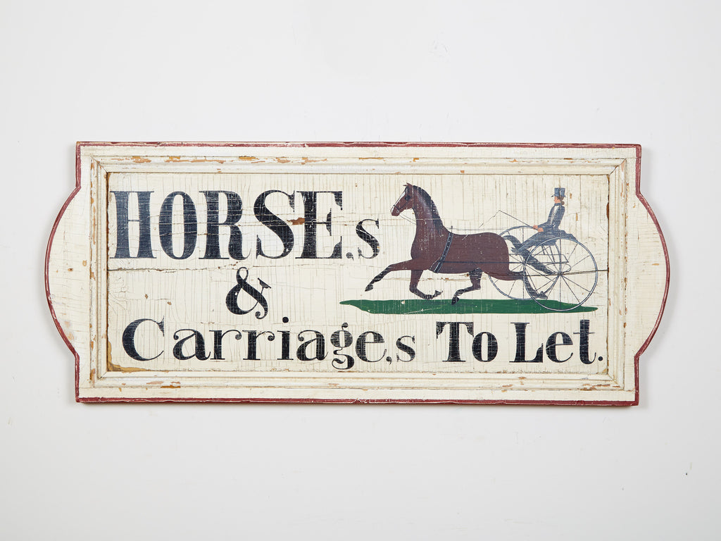 Horses & Carriages to Let (A) (Quarter Board) Americana Art