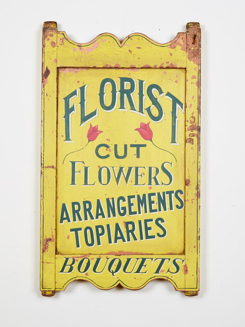 Florist Sign in Yellow Americana Art