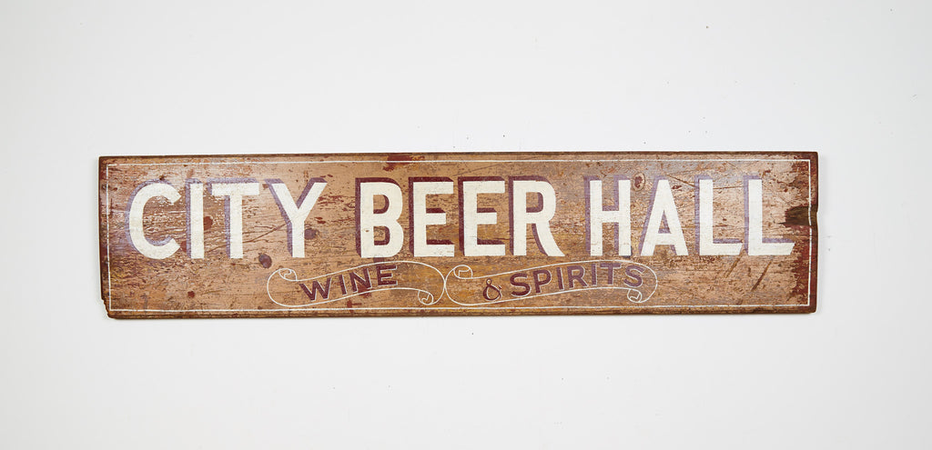 City Beer Hall, Wine & Spirits, Yellow Americana Art