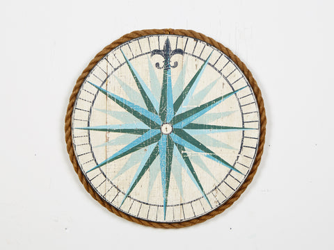 Compass Rose White Americana Art