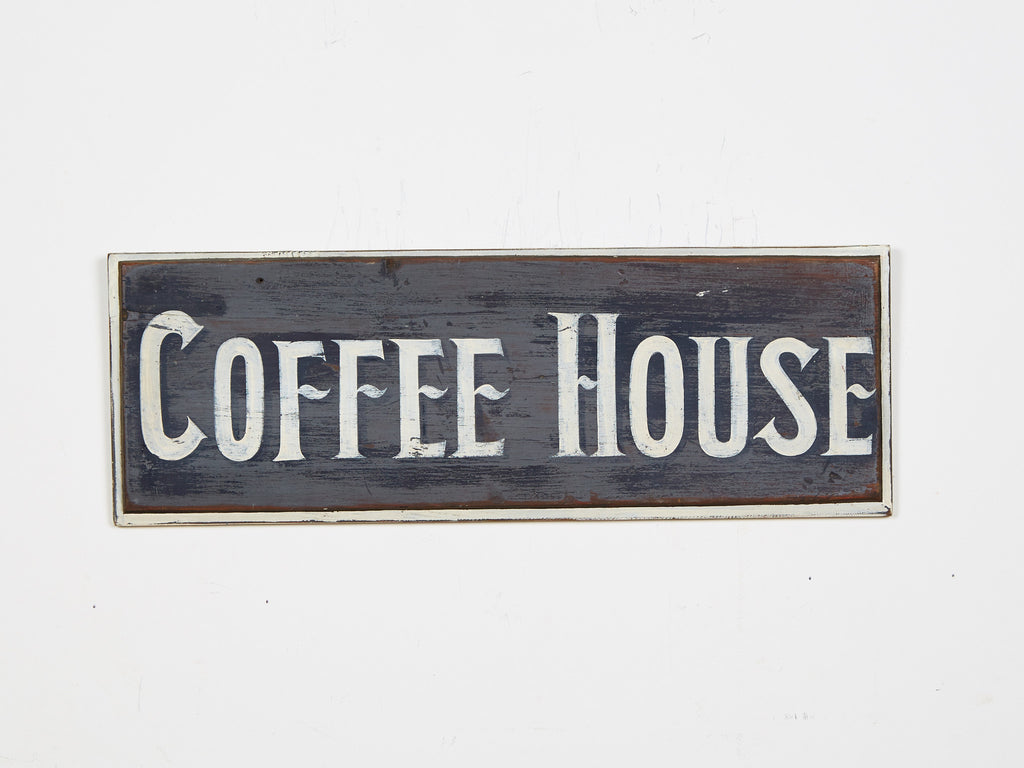 Coffee House (Gray Background) Americana Art
