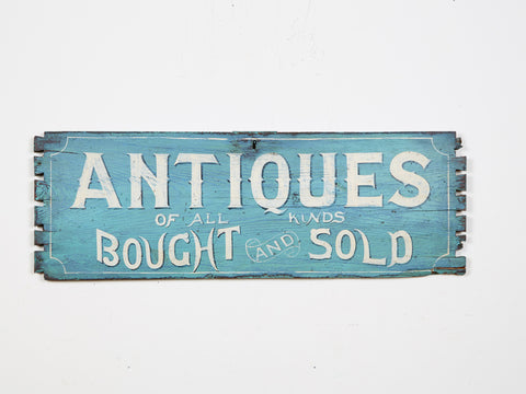 Antiques Bought and Sold (Blue) Americana Art