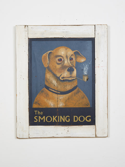 Smoking Dog Americana Art