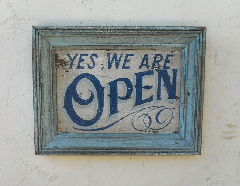 Yes We Are Open Americana Art