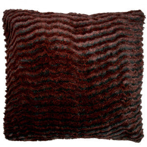Desert Sand in Crimson Luxury Faux Fur Pillow Sham