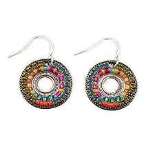 Multi Color Circle Earrings by Firefly Jewelry