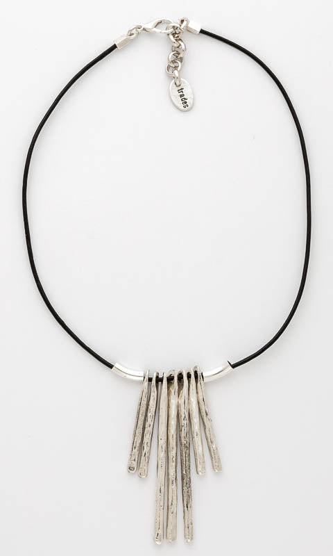 Multi Drop on Leather Necklace