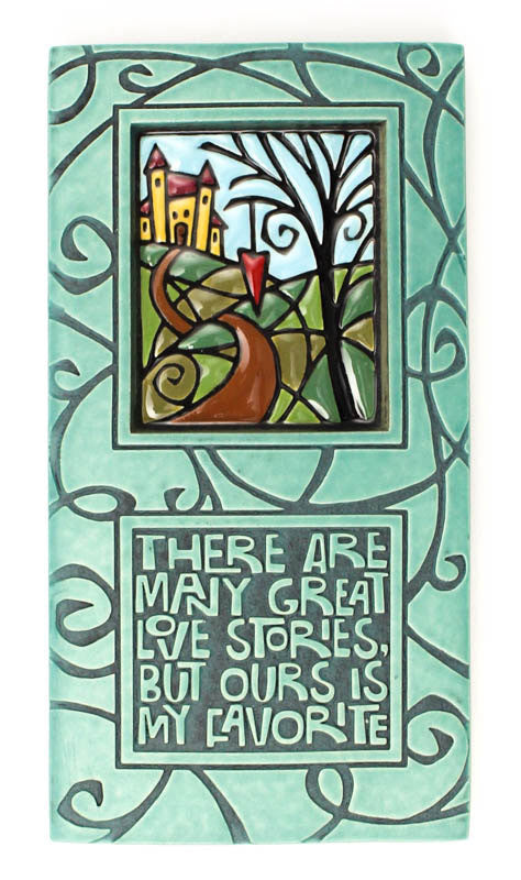 Great Love Stories Large Ceramic Tile
