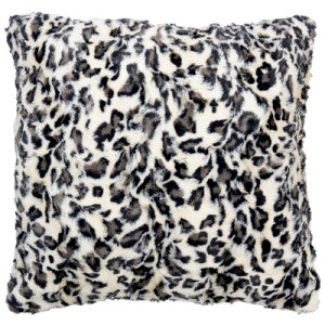 White Jaguar Luxury Faux Fur Pillow Sham