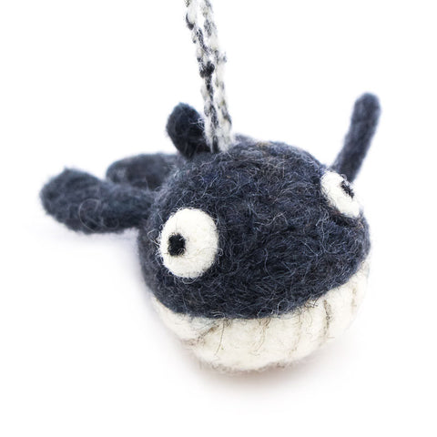 Whale Woolie Ornament