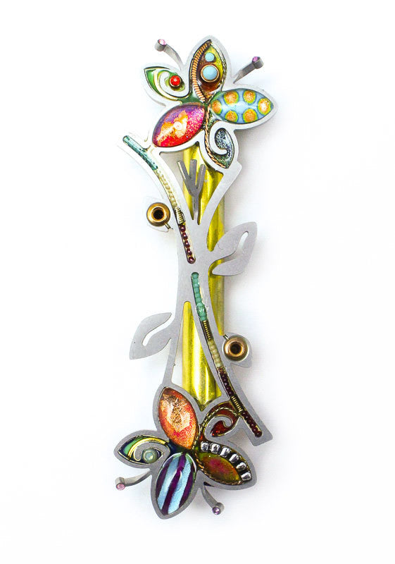 Flowers Intertwined Mezuzah