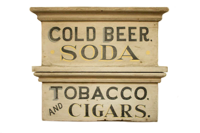 Cold Beer, Soda, Tobacco and Cigars Americana Art