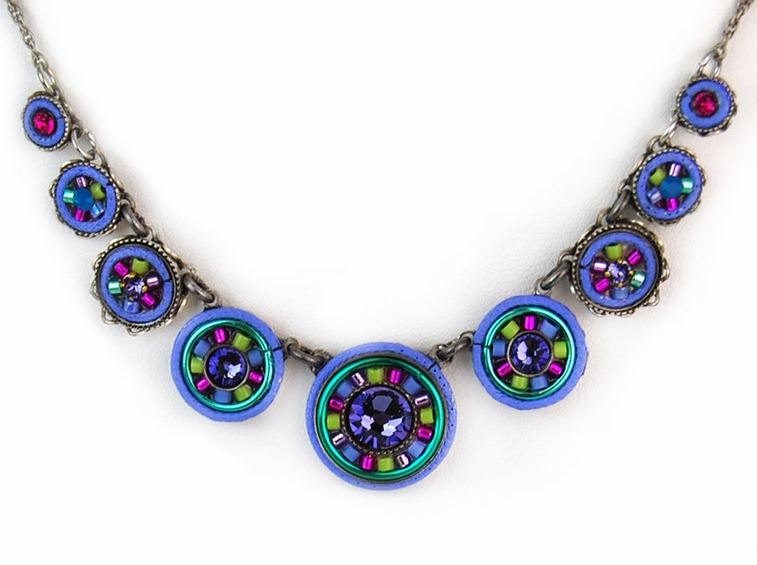Tanzanite La Dolce Vita Circles Necklace by Firefly Jewelry