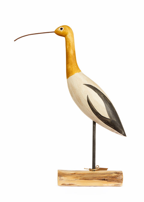 Hand Carved Tall Avocet