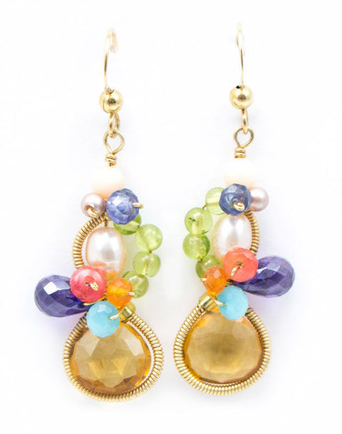 Baby Bella Citrine Earrings by Anna Balkan