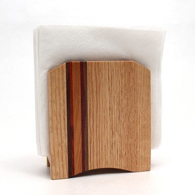 Striped Napkin Holder in Oak