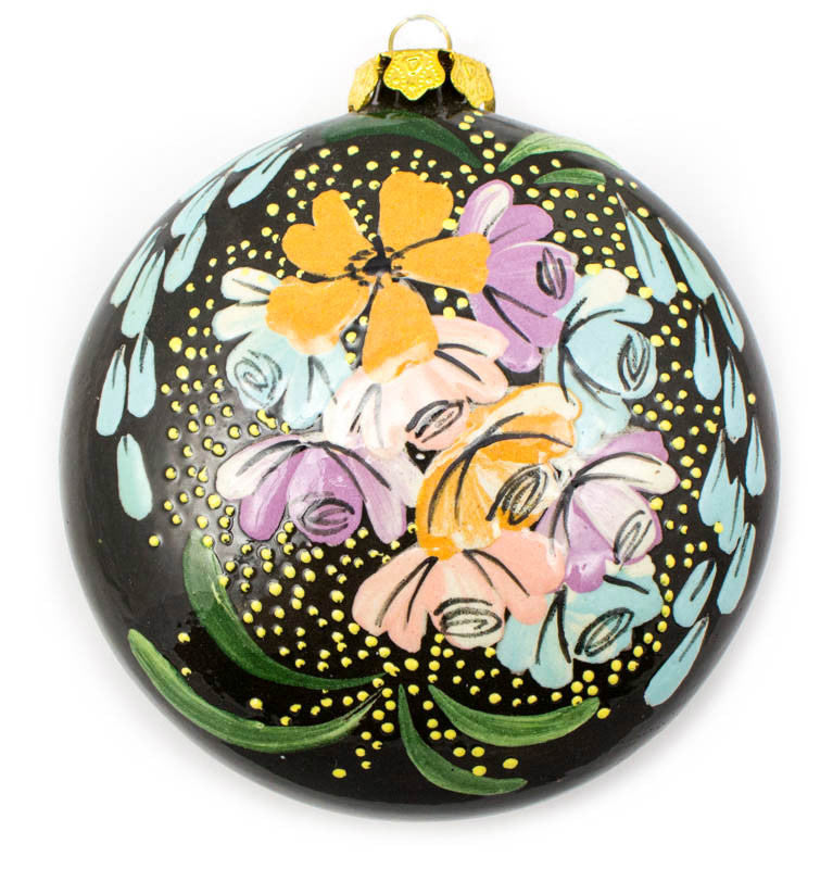 Bluebell Bouquet Large Round Ceramic Ornament
