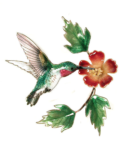 Hummingbird with Trumpet Flower Wall Art by Bovano Cheshire