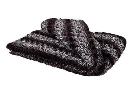 Smokey Essence Luxury Faux Fur Throw