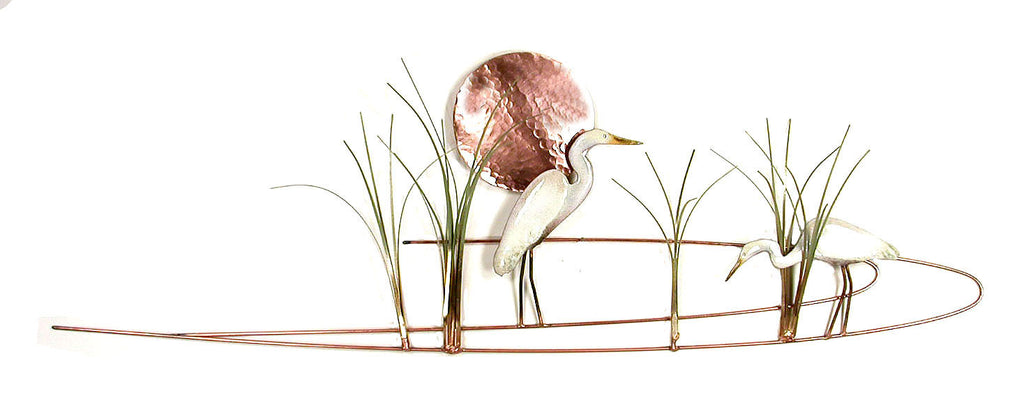 Egret with Grasses Wall Art by Bovano Cheshire