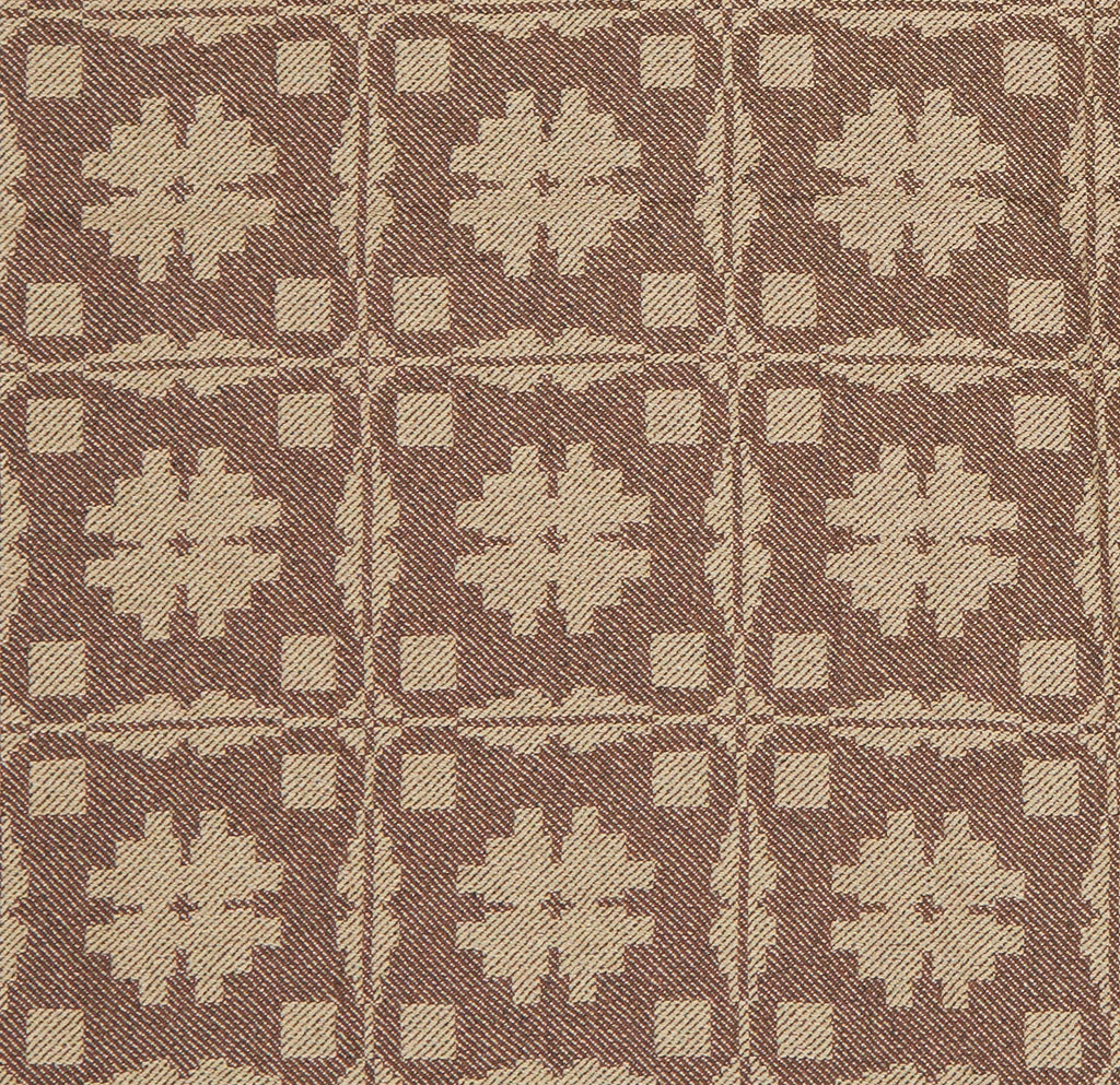 Fancy Snowballs Queen Coverlet in Brown with Wheat