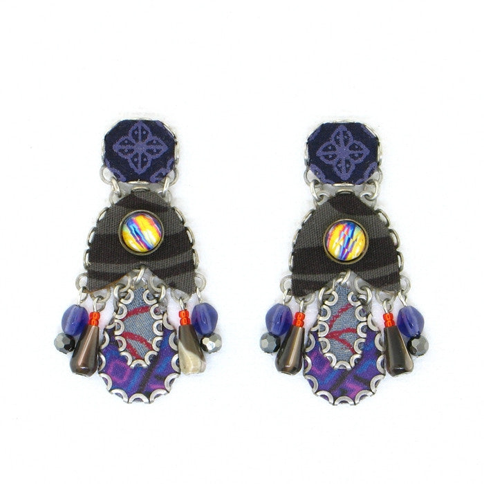 Ayala Bar Peruvian Violet Large Earrings