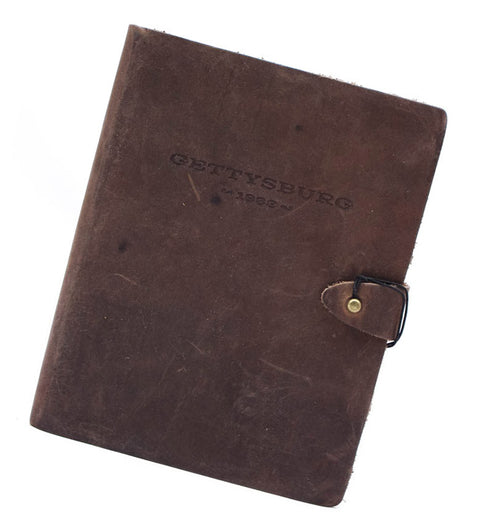 Gettysburg Venture Leather Notebook - Available in Multiple Colors