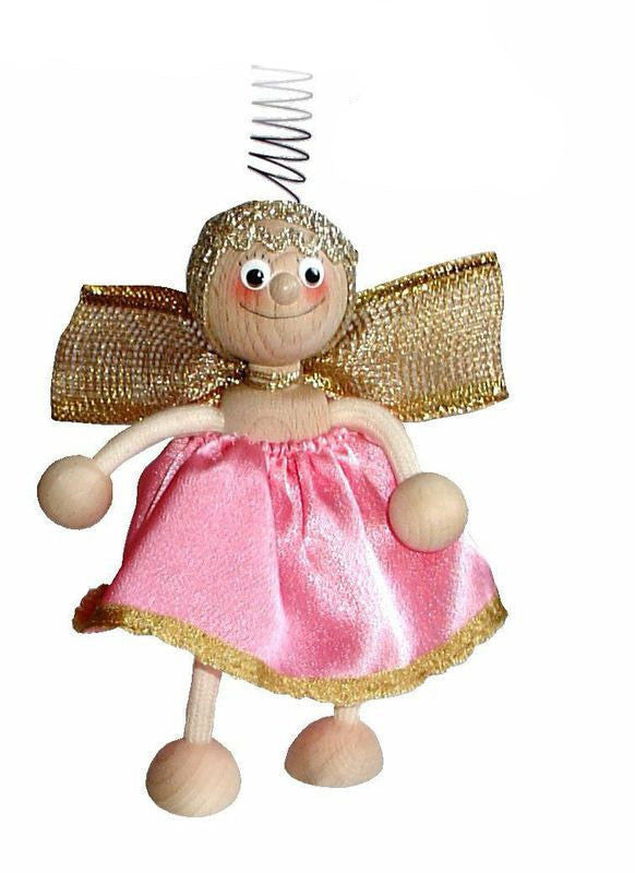 Pink Angel Handcrafted Wooden Jumpie