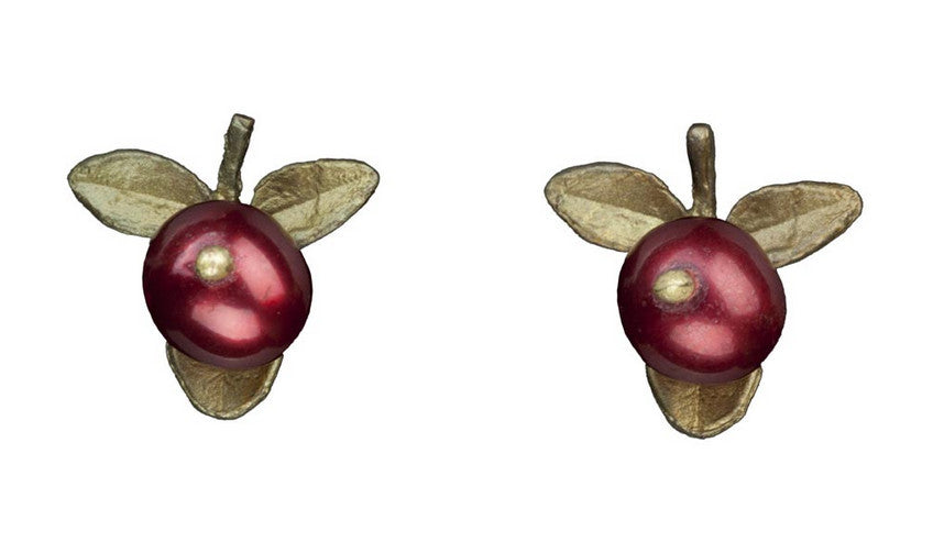 Cranberry Pierced Earrings