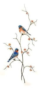 Double Bluebirds Wall Art by Bovano Cheshire
