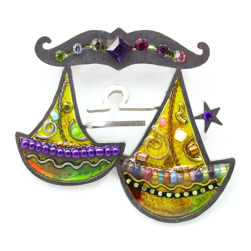 Harmonious Libra The Scales Pin