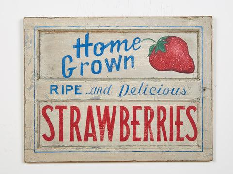 Home Grown Strawberries Americana Art