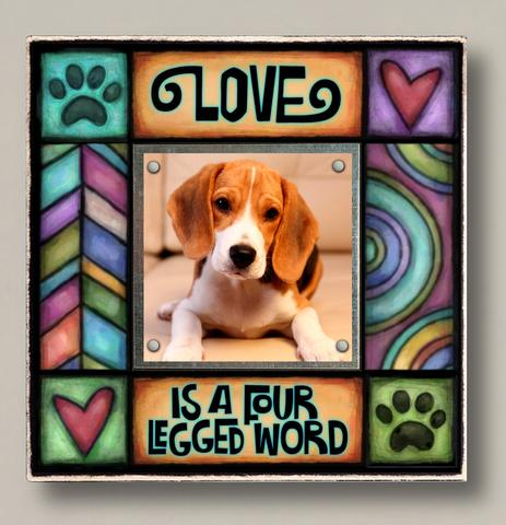Love Four Legged Word Small Frame
