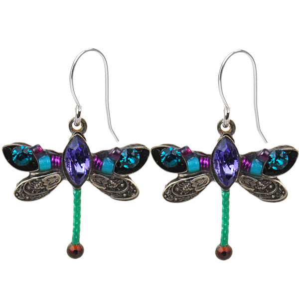 Teal Petite Dragonfly Earrings by Firefly Jewelry