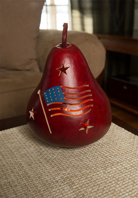 American Flag Gourds