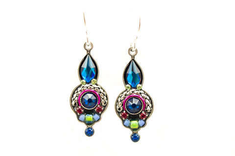 Bermuda Blue Drop Earrings by Firefly Jewelry