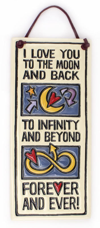Love to Infinity Small Tall Ceramic Tile