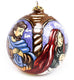 Pastel Nativity Large Bulb Ceramic Ornament