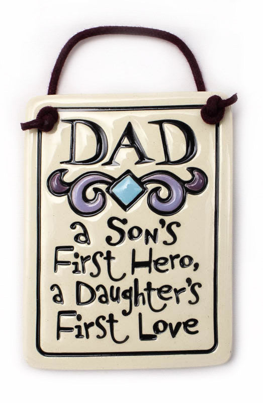 Dad Charmer Ceramic Tile