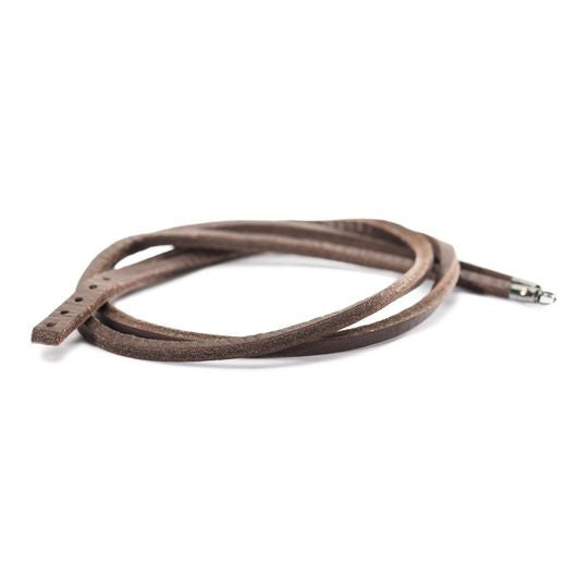 Light and Dark BrownLeather Bracelet by Trollbeads, 17.7 Inches