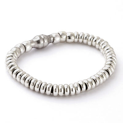 Sparkling Silver on Leather Bracelet
