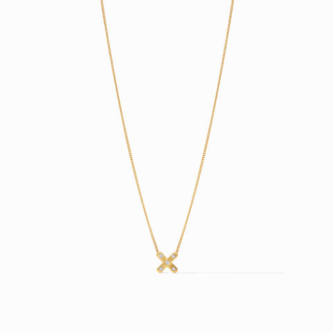 Paris X Delicate Necklace Gold Cz by Julie Vos