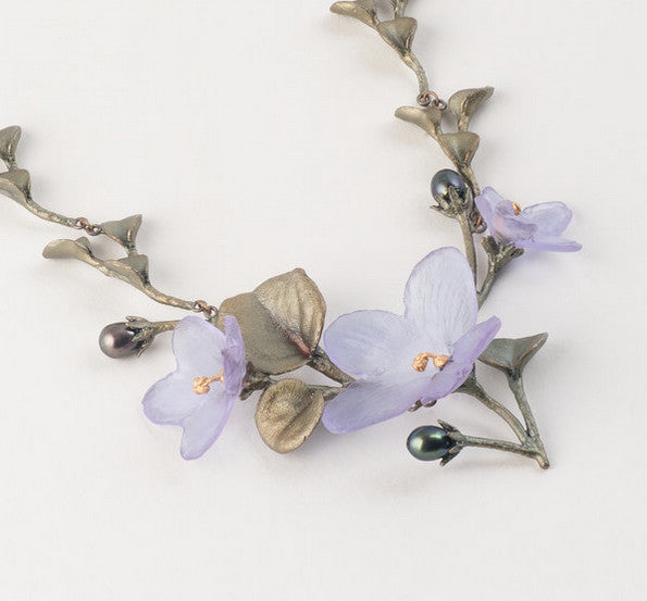 African Violet 16 Inch Necklace