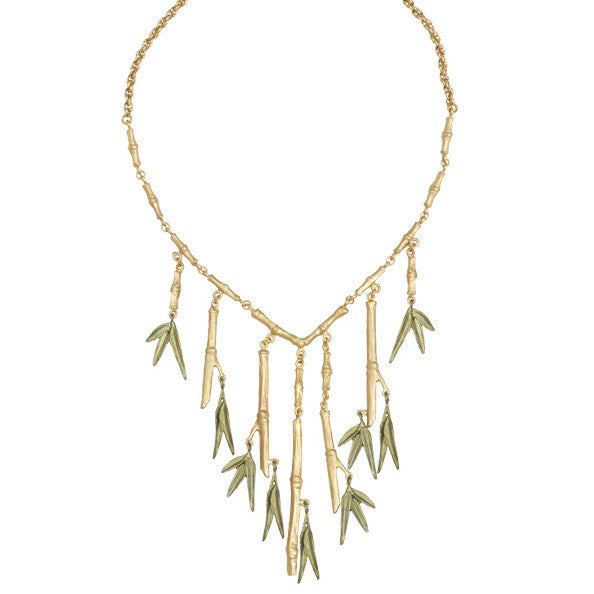 Bamboo 18 inch Multi Branch Necklace by Michael Michaud